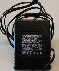 Adapter. 9V - 1000 mA.