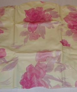 Badepute, hvit med roser