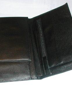 Lommebok, sort skinn