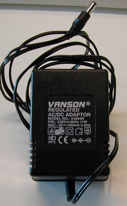 Adapter. 12V - 1000mA.