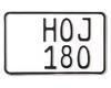 MC-skilt 180 x 110 mm