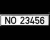 Bilskilt uten flagg 52 x 11 cm