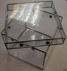 Transparent boks med lokk