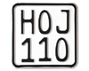 MC-skilt Enduro 110 x 110