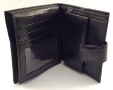 Lommebok i sort skinn