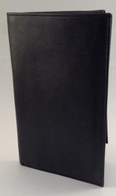 Lommebok i sort okseskinn